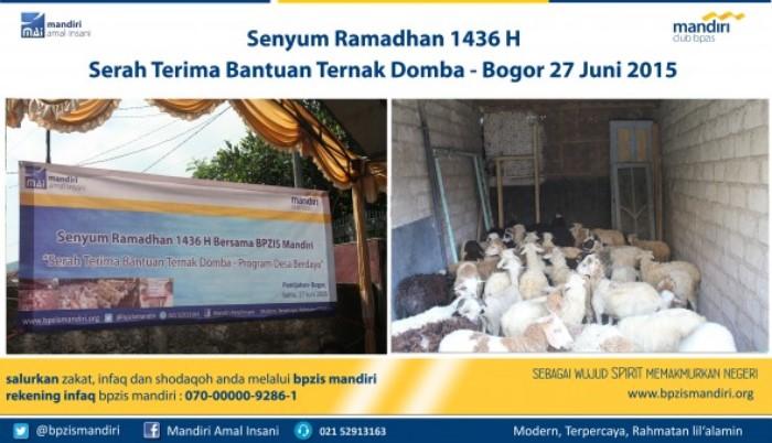BPZIS Mandiri Senyum Ramadhan Bantuan Ternak Domba, Pamijahan