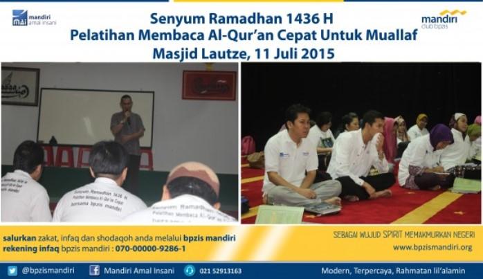 BPZIS Mandiri Pelatihan Membaca Al Qur'an untuk Muallaf