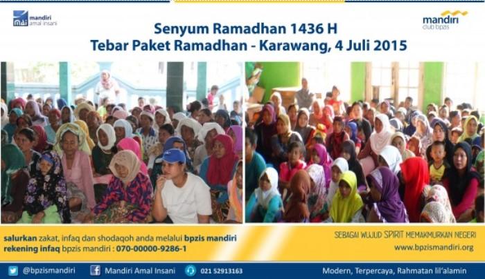 BPZIS Mandiri Senyum Ramadhan Tebar Paket Ramadhan karawang