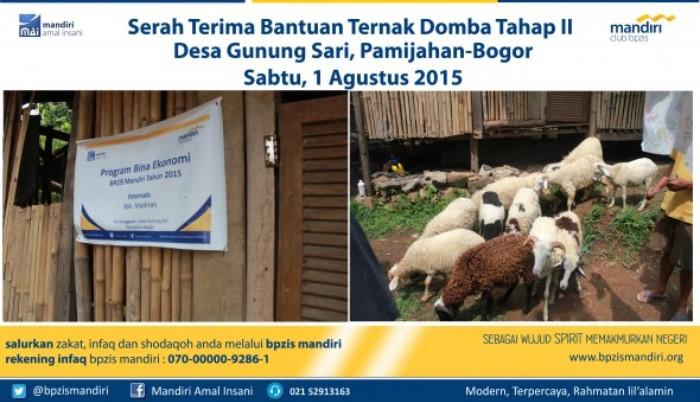 BPZIS Mandiri Serah Terima Bantuan Ternak DOmba Desa Gunung Sari