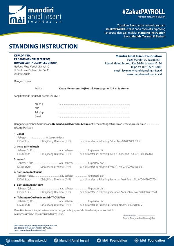 Mudah Berqurban di MAI Foundation Dengan Standing Instruction - Badan Amil  Zakat - MAI Foundation